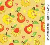fruit patchwork seamless | Shutterstock .eps vector #105491240