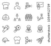 thin line icon set   queen pawn ... | Shutterstock .eps vector #1054912739
