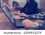 software developer writing... | Shutterstock . vector #1054913279