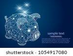 piggy bank. abstract design ... | Shutterstock .eps vector #1054917080