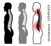 vector human spine silhouettes | Shutterstock .eps vector #105491819