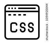css web  vector icon | Shutterstock .eps vector #1054920044