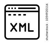 web xml  vector icon | Shutterstock .eps vector #1054920116