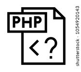php file  vector icon