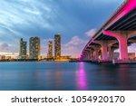 miami city skyline panorama at... | Shutterstock . vector #1054920170