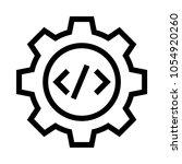 code setting vector icon