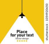 modern interior.vector isolated ... | Shutterstock .eps vector #1054920650