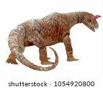 shringasaurus dinosaur tail 3d... | Shutterstock . vector #1054920800