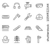 thin line icon set   cutter... | Shutterstock .eps vector #1054922144