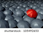 standing out from the crowd... | Shutterstock . vector #105492653