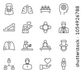 thin line icon set  ... | Shutterstock .eps vector #1054926788