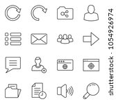 thin line icon set   add user...