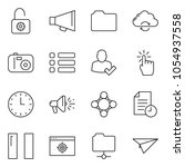 thin line icon set   landing...