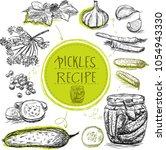 sketch object marinade pickles...   Shutterstock .eps vector #1054943330