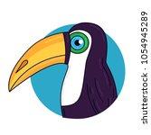toucan tropical bird colorful... | Shutterstock .eps vector #1054945289