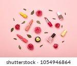 fashionable women's cosmetics... | Shutterstock . vector #1054946864