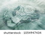 eagle from one dollar bill with ... | Shutterstock . vector #1054947434