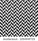 Stock vector zig zag seamless vector pattern herringbone texture monochrome striped lines background 1054949723