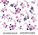 bunch of flowers pattern with...   Shutterstock .eps vector #1054951589