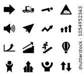 solid vector icon set   right... | Shutterstock .eps vector #1054952363