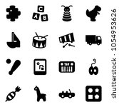 solid vector icon set   puzzle...   Shutterstock .eps vector #1054953626