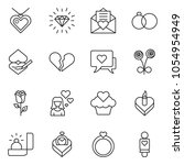 thin line icon set   rose... | Shutterstock .eps vector #1054954949