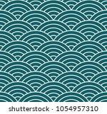 japanese style seamless pattern ... | Shutterstock .eps vector #1054957310