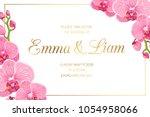 wedding marriage event... | Shutterstock .eps vector #1054958066