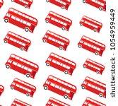 london bus. seamless pattern....   Shutterstock .eps vector #1054959449