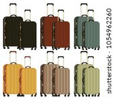 travel different bags ... | Shutterstock .eps vector #1054962260