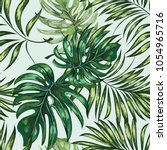 seamless pattern of a tropical... | Shutterstock .eps vector #1054965716