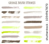 modern watercolor daubs set ... | Shutterstock .eps vector #1054967870