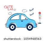 sweet car illustration vector. | Shutterstock .eps vector #1054968563