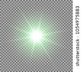 sunlight with lens flare effect ... | Shutterstock .eps vector #1054975883