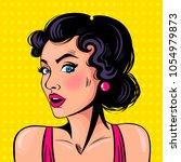 curious girl.  emotion. comics. ...   Shutterstock .eps vector #1054979873