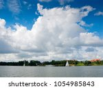 talty lake. masurian lakes... | Shutterstock . vector #1054985843