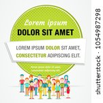 colorful vector banners ...   Shutterstock .eps vector #1054987298