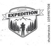 outdoor expedition badge.... | Shutterstock .eps vector #1054987508