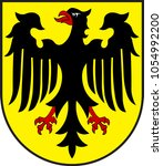 coat of arms of oberwesel is a... | Shutterstock .eps vector #1054992200