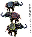 three beautiful indian... | Shutterstock . vector #105499298