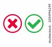 check mark icon signs vector...   Shutterstock .eps vector #1054996199