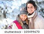 portrait of happy couple at... | Shutterstock . vector #105499670