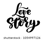 Words Love Story. Vector...