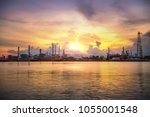 industrial petrochemical plant... | Shutterstock . vector #1055001548