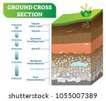 ground cross section vector... | Shutterstock .eps vector #1055007389
