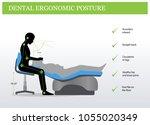 ergonomics in dentistry.... | Shutterstock .eps vector #1055020349