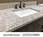 rectangular white sink under... | Shutterstock . vector #1055020880