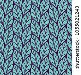 geometric seamless leaf vector... | Shutterstock .eps vector #1055021243
