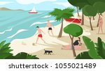 a high quality horizontal... | Shutterstock .eps vector #1055021489