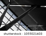 abstract modern architecture  ... | Shutterstock . vector #1055021603
